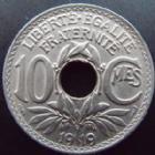 Photo numismatique  Monnaies Monnaies Françaises Troisième République 10 centimes Lindauer 10 centimes Lindauer 1919, G.286 SUPERBE