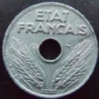 Photo numismatique  Monnaies Monnaies Françaises Etat Français 10 centimes zinc petit module 10 centimes zinc petit module 1943, G.291 SUPERBE+
