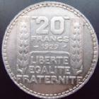 Photo numismatique  Monnaies Monnaies Françaises Troisième République 20 Francs 20 francs Turin en argent 1929, G.852 TTB+