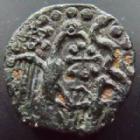 Photo numismatique  Monnaies Monnaies Gauloises Carnutes Bronze à l'aigle et au serpent CARNUTES, Bronze à l'aigle, l'ailerion et le serpent, 3,66 grms, LT.6088 Bon TTB