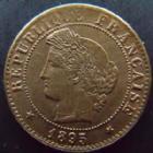 Photo numismatique  Monnaies Monnaies Françaises Troisième République 1 Centime 1 Centime Cérès 1895 A, G.88 TTB à SUPERBE