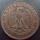 Photo numismatique  Monnaies Monnaies Françaises Second Empire 2 Centimes NAPOLEON III, 2 centimes non lauré 1854 BB Strasbourg, petit BB, G.103 SUPERBE