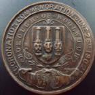 Photo numismatique  Monnaies Médailles Etrangères Grande Bretagne, Great Britain, Angleterre Coronation, Couronnement Grande Bretagne, Great Britain, 1902, medaille (medals) 32 mm, Coronation of Edward VII, Quenn Alexandra, petits coups sur tranche sinon TTB à SUPERBE