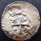 Photo numismatique  Monnaies Monnaies/médailles de Lorraine Epinal, Abbaye de Saint-Goëry Denier, denar, denario, denarius EPINAL, Abbaye de Saint-Goëry, denier XII°/XIII° siècle, 0,60 grm, Fl.10 p.310, TB à TTB