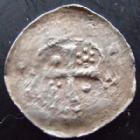 Photo numismatique  Monnaies Monnaies/médailles de Lorraine Epinal, Abbaye de Saint-Goëry Denier, denar, denario, denarius EPINAL, Abbaye de Saint-Goëry, denier, XII°/XIII° siècle, 0,48 grm, Fl.10 p.310, TB+