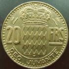 Photo numismatique  Monnaies Monnaies étrangères Monaco 20 Francs MONACO, Rainier III, 20 francs 1951, G.140 TTB