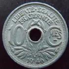Photo numismatique  Monnaies Monnaies Françaises Gouvernement Provisoire 10 Centimes 10 centimes zinc 1946 B, G.292 TTB+