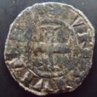 Photo numismatique  Monnaies Monnaies F�odales Franche comt� besan�on Denier ou Est�venant Franche Comt�, Besan�on, denier anonyme ou Estevenant, 1180-1225, 0,81 grm, PA.5374 TB