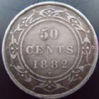 Photo numismatique  Monnaies Monnaies étrangères Canada Newfoundland, kanada Newfoundland 50 Cents Canada Newfoundland, 50 cents 1882 H, KM.6 TTB