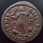 Photo numismatique  Monnaies Empire Romain LICINIUS I, LICINIO I,  Follis, folles,  LICINIUS I, Follis Alexandrie en 308-324, Iovi Conservatori Augg, 3,51 grms, C.71 TTB/TTB+