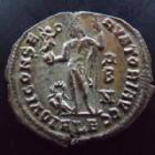 Photo numismatique  Monnaies Empire Romain LICINIUS I, LICINIO I,  Follis, folles,  LICINIUS I, Follis Alexandrie en 315-316, Iovi Conservatori Augg, 3,58 grms, RIC.8 SUPERBE, argenture!!