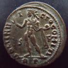 Photo numismatique  Monnaies Empire Romain LICINIUS I, LICINIO I,  Follis, folles,  LICINIUS I, Follis Rome en 317-318, Soli Invicto Comiti, 3,65 grms, RIC.22 SUPERBE, beaux restes d'argenture!