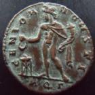 Photo numismatique  Monnaies Empire Romain LICINIUS I, LICINIO I,  Follis, folles,  LICINIUS I, Follis Aquilé en 312-313, Genio Augusti, 4,86 grms, RIC.131 TTB+/SUPERBE R!