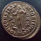 Photo numismatique  Monnaies Empire Romain LICINIUS I, LICINIO I,  Follis, folles,  LICINIUS I, Follis Alexandrie en 315-316, Iovi Conservatori Augg, 3,40 grms, RIC.14 SUPERBE+