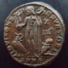 Photo numismatique  Monnaies Empire Romain LICINIUS I, LICINIO I,  Follis, folles,  LICINIUS I, Follis Héraclé en 321-324, buste radié, 3,07 grms, Ric.52 SUPERBE