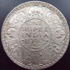 Photo numismatique  Monnaies Monnaies étrangères Indes Anglaises, British India One rupee Indes Anglaises, British India, one rupee 1840, Georges VI, argent 500°/°°, KM.556 Bon TTB