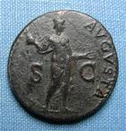 Photo numismatique  Monnaies Empire Romain CLAUDE I, CLAUDIUS I, CLAUDIO I, CLAUDIUS, CLAUDIO As, asse,  CLAUDE Ier As frappé à Rome en 42, RIC 113 TTB
