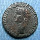 Photo numismatique  Monnaies Empire Romain CLAUDE I, CLAUDIUS I, CLAUDIO I, CLAUDIUS, CLAUDIO As, asse,  CLAUDE Ier As frappé à Rome en 42, RIC 113 TB+/TTB