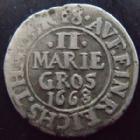 Photo numismatique  Monnaies Allemagne avant 1871 Allemagne, Deutschland, Osnabruck 2 Mariengroschen Osnabruck, Ernst August I, 2 mariengroschen 1668, Kennepohl.286 TTB