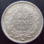 Photo numismatique  Monnaies Monnaies Françaises Louis Philippe 25 Centimes LOUIS PHILIPPE I, 25 centimes 1847 A Paris, G.357 TTB à SUPERBE