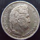 Photo numismatique  Monnaies Monnaies Fran�aises Louis Philippe 25 Centimes LOUIS PHILIPPE I, 25 centimes 1845 B Rouen, G.357 TTB