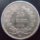 Photo numismatique  Monnaies Monnaies Françaises Louis Philippe 25 Centimes LOUIS PHILIPPE I, 25 centimes 1845 B Rouen, G.357 TTB