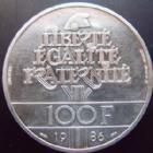 Photo numismatique  Monnaies Monnaies Fran�aises Cinqui�me r�publique Piefort du 100 francs 100 francs Libert� 1986, PIEDFORT, type G.901 SUPERBE