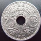 Photo numismatique  Monnaies Monnaies Françaises Troisième République 25 centimes Lindauer 25 centimes Lindauer 1915 souligné, G.379 SUPERBE à FDC