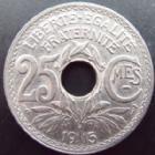 Photo numismatique  Monnaies Monnaies Françaises Troisième République 25 centimes Lindauer 25 centimes Lindauer 1915 souligné, G.379 SUPERBE