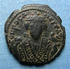 Photo numismatique  Monnaies Monnaies Byzantines 7ème siècle Follis PHOCAS, Follis frappé à Theoupolis (antioche) en 602.610, S.672 TTB