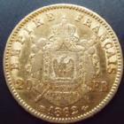 Photo numismatique  Monnaies Monnaies Française en or Second Empire 20 Francs or NAPOLEON III, 20 francs or lauré 1862 BB Strasbourg, Or 900°/°° 6,45 grms, G.1062 TTB