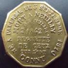 Photo numismatique  Monnaies Jetons Jeton du duc d'Orleans Jeton Duc d'Orleans, jeton 22 mm, accident et mort du Duc d'Orleans 1842, TTB+