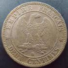 Photo numismatique  Monnaies Monnaies Fran�aises Second Empire 2 Centimes NAPOLEON III, 2 centimes 1861 BB Strasbourg, G.104 TB � TTB/TTB