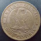 Photo numismatique  Monnaies Monnaies Françaises Second Empire 2 Centimes NAPOLEON III, 2 centimes 1861 BB Strasbourg, G.104 TB à TTB/TTB