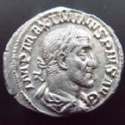 Photo numismatique  Monnaies Empire Romain MAXIMIN I, MAXIMINUS I, MAXIMINO I Denier, denar, denario, denarius MAXIMINUS Thrax, MAXIMIN le Thrace, denier Rome en 236, Fides Militum, 2,36 grms, RIC.71 SUPERBE