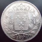 Photo numismatique  Monnaies Monnaies Fran�aises Charles X 5 Francs CHARLES X, 5 francs 1827 D Lyon, G.644 D�fault de listel sinon TTB