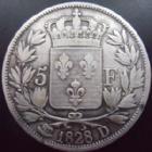 Photo numismatique  Monnaies Monnaies Françaises Charles X 5 Francs CHARLES X, 5 francs 1828 D Lyon, G.644 TB+