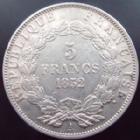 Photo numismatique  Monnaies Monnaies Françaises Deuxième République 5 Francs LOUIS NAPOLEON BONAPARTE, 5 francs 1852 A Paris, G.726 TTB