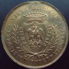 Photo numismatique  Monnaies Médailles Exposition Internationale Médaille NICE, Exposition internationale 1883-1884, médaille (manque la beliere) 29,5 mm, TTB