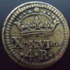 Photo numismatique  Monnaies Poids Monétaires Espagne, Spain 4 Réales Espagne, Spain, Philippe IIII 1621-1665, poids monétaire de 4 réaux, Non daté, 21,5 mm 13,36 grms, TTB