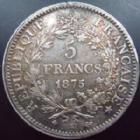 Photo numismatique  Monnaies Monnaies Françaises Troisième République 5 Francs 5 Francs Hercule 1875 K Bordeaux, G.745a Bon TTB