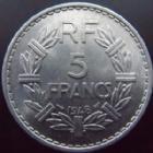 Photo numismatique  Monnaies Monnaies Françaises 4ème république 5 Francs 5 francs Lavrillier aluminium 1948, G.766a SUPERBE+/SUPERBE