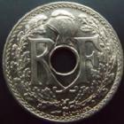 Photo numismatique  Monnaies Monnaies Françaises Troisième République 25 centimes Lindauer 25 centimes Lindauer .1939. Maillechort, G.381 FDC