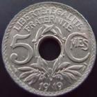 Photo numismatique  Monnaies Monnaies Françaises Troisième République 5 centimes Lindauer 5 centimes Lindauer gros module 1919, G.169 SUPERBE