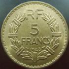 Photo numismatique  Monnaies Monnaies Françaises Gouvernement Provisoire 5 Francs 5 francs Lavrillier 1946 cupro-aluminium, G.761a SUPERBE