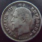 Photo numismatique  Monnaies Monnaies Françaises Second Empire 20 Cmes NAPOLEON III, 20 centimes 1853 A Paris, G.305 TB