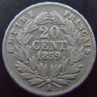 Photo numismatique  Monnaies Monnaies Françaises Second Empire 20 Cmes NAPOLEON III, 20 centimes 1859 A Paris, G.305 TB/TB+