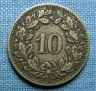 Photo numismatique  Monnaies Monnaies étrangères Suisse 10 Rappen SUISSE, 10 Rappen 1876, KM.6  TTB