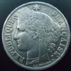 Photo numismatique  Monnaies Monnaies Françaises Défense nationale 5 Francs 5 francs Cérès 1870 A Paris, G.742 légères traces de nettoyage sinon TB à TTB