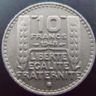Photo numismatique  Monnaies Monnaies Françaises 4ème république 10 Francs 10 francs Turin 1948 B, G.811 SUPERBE